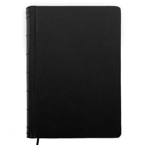 Gästebuch Leder Bütten 120 Blatt schwarz
