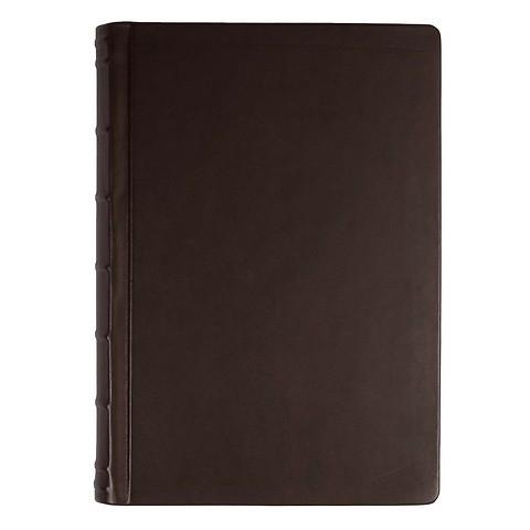 Gästebuch Leder Bütten 120 Blatt dunkelbraun