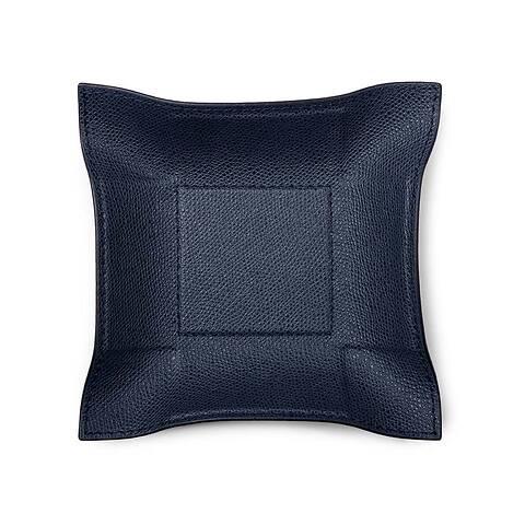 Accessoiretray Square Leder 15x15 cm d-blau