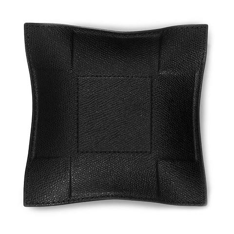 Accessoiretray Square Leder 15x15 cm schwarz