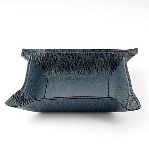 Accessoiretray Square Leder,20x20 d-blau