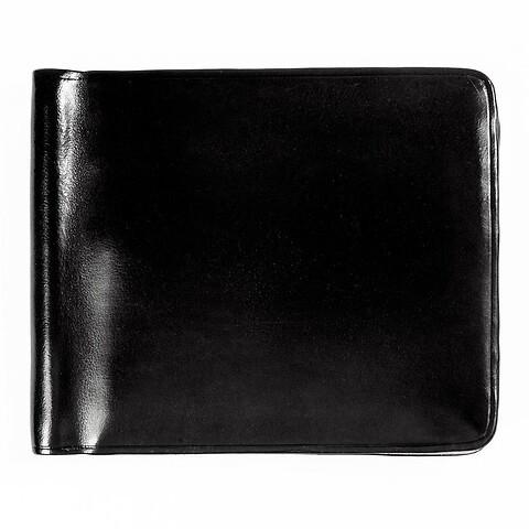 Kreditkartenetui Leder Geldclip 11x9 cm schwarz
