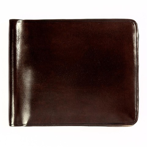 Kreditkartenetui Leder Geldclip 11x9 cm dunkelbraun