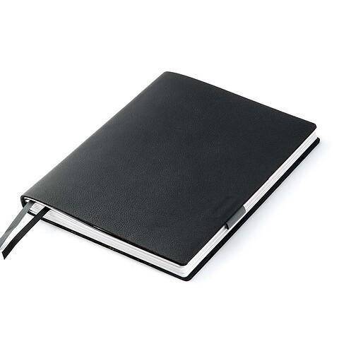 Whitebook Leder Calf soft iPad L 25x20 cm schwarz