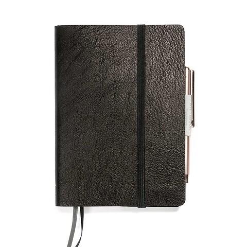 Whitebook Notes Leder Calf soft SX 9x13,4 cm schwarz