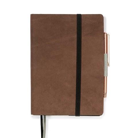 Whitebook Notes Leder Calf soft SX 9x13,4 cm antikbraun
