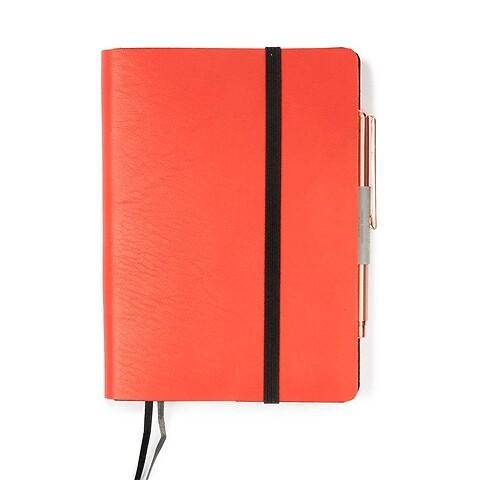 Whitebook Notes Leder Calf soft SX 9x13,4 cm orange