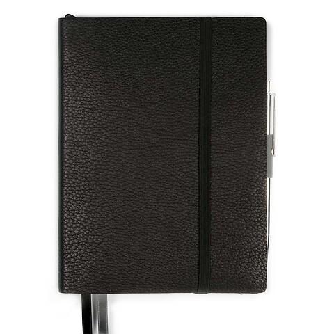 Whitebook Notes Leder Calf soft MX 13,4x19 cm schwarz
