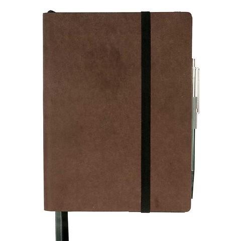 Whitebook Notes Leder Calf soft MX 13,4x19 cm antikbraun