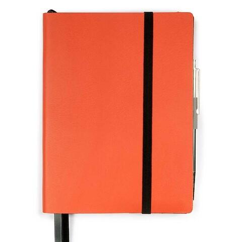Whitebook Notes Leder Calf soft MX 13,4x19 cm orange