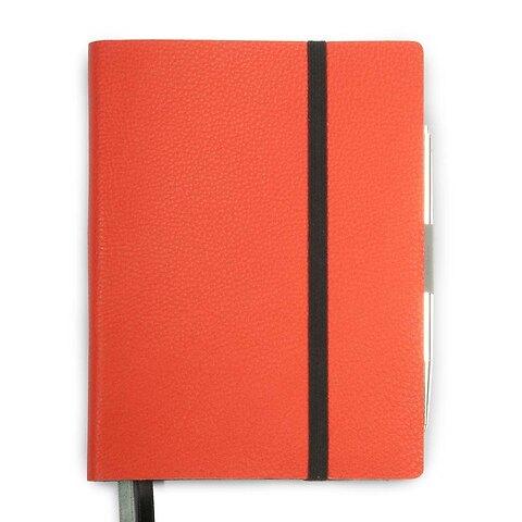 Whitebook Notes Calf Grain MX  13,4x19 cm mandarin