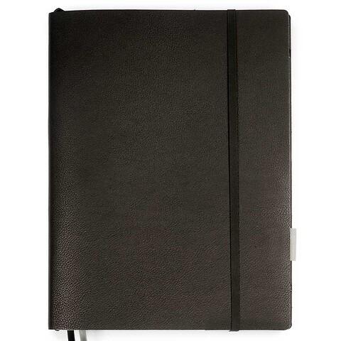 Whitebook Notes Leder Calf Sof t XL 23x31cm schwarz