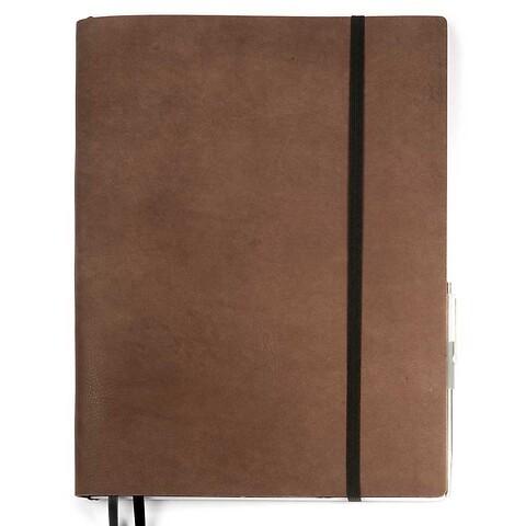 Whitebook Notes Leder Calf Sof t XL 23x31cm antikbraun