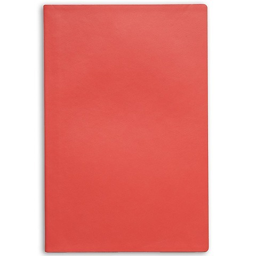 Treuleben Notizbuch Journal L Leder blanco; coral/lobster