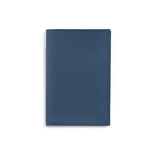 Treuleben Visitenkartenetui Leder blau/prussian blue