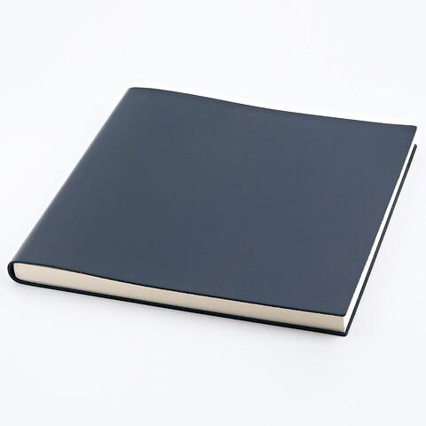 Gästebuch Leder 21x21 cm dunkelblau, 110 Blatt