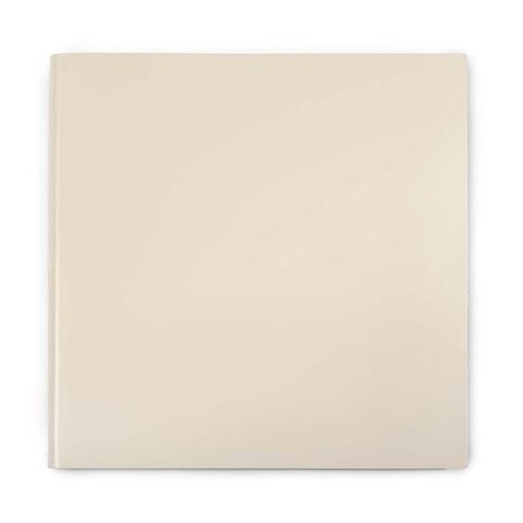 Gästebuch Leder 21x21cm 110 Blatt; cream