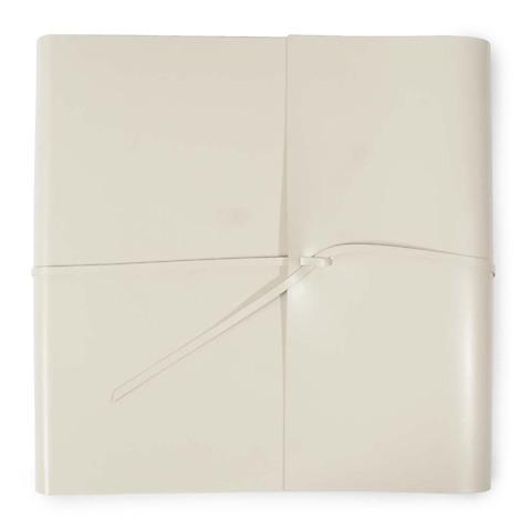 Fotoalbum Leder mit Band quadratisch 33x33 cm cream
