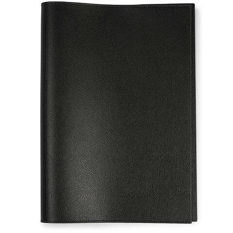 Buchhülle für DIN A4 Bücher Leder schwarz