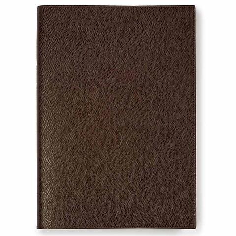 Buchhülle für DIN A4 Bücher Leder dunkelbraun