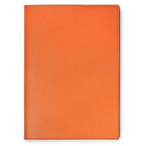 Buchhülle für DIN A4 Bücher Leder orange