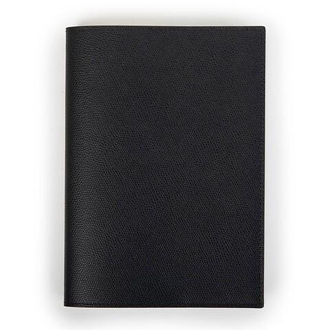 Buchhülle Leder für DIN A5 Bücher schwarz