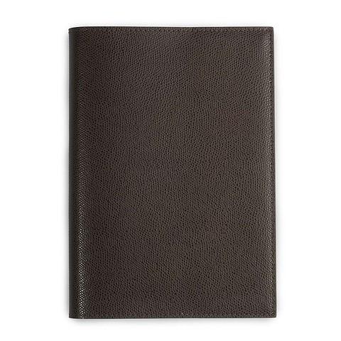 Buchhülle Leder für DIN A5 Bücher dunkelbraun