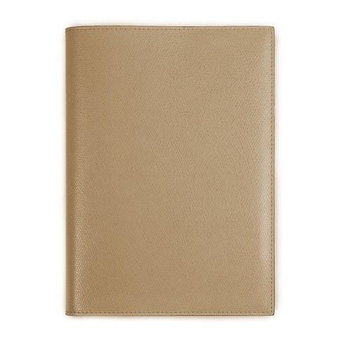 Buchhülle für DIN A5 Bücher Leder latte
