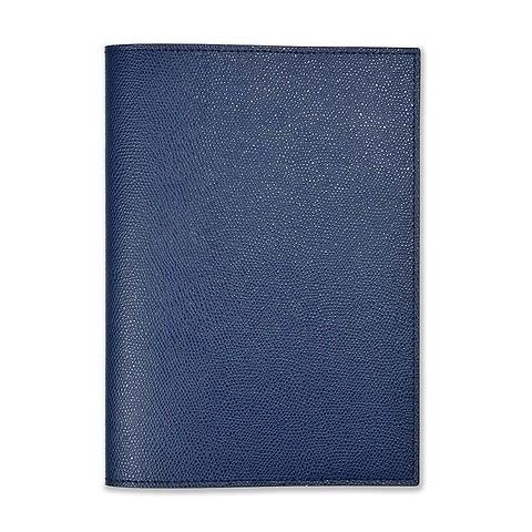 Buchhülle für DIN A5 Bücher Leder royal blau