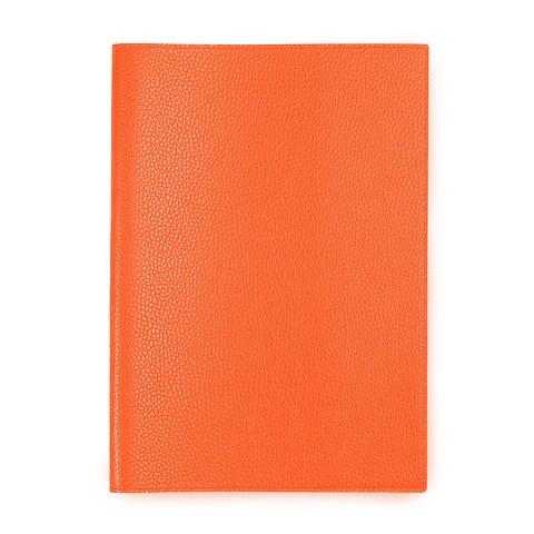 Buchhülle für DIN A5 Bücher Leder Lux orange