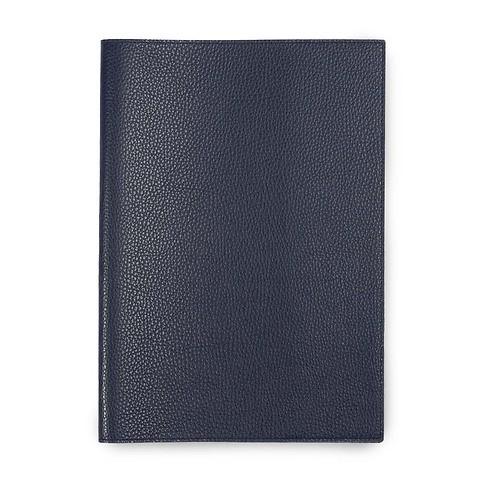 Buchhülle für DIN A5 Bücher Leder Lux dunkelblau