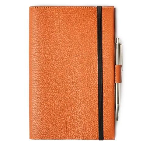 Undercover A5 Leder Adri mit Stiftelasche orange