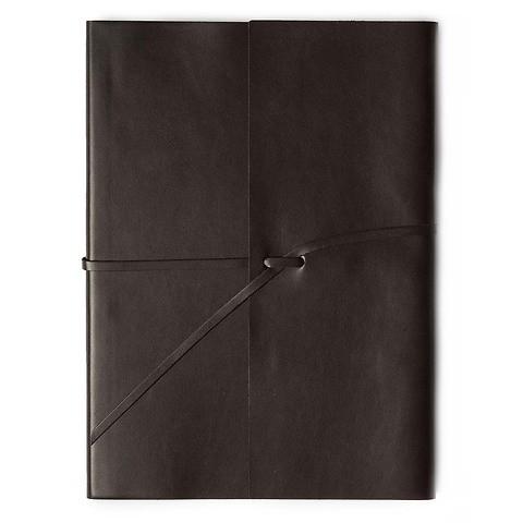 Journal Leder soft mit Band A4 choco, 96 Blatt
