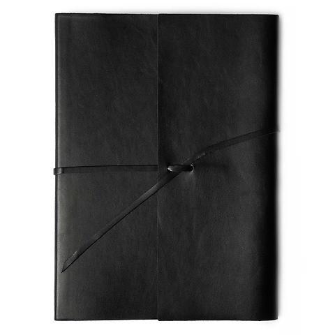 Journal Leder soft mit Band A4 schwarz, 96 Blatt