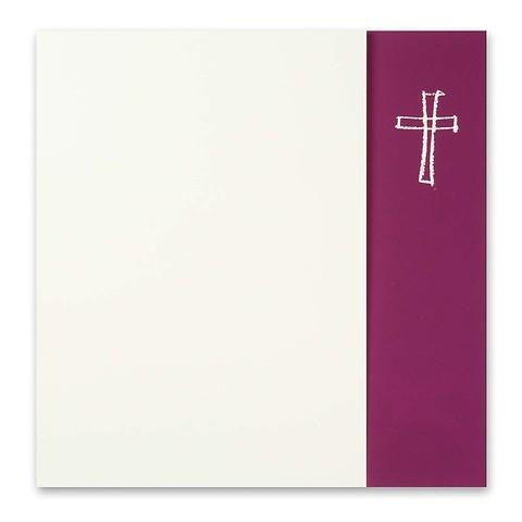 Grußkarte Kreuz gezeichnet Opal Fläche brombeer quadratisch