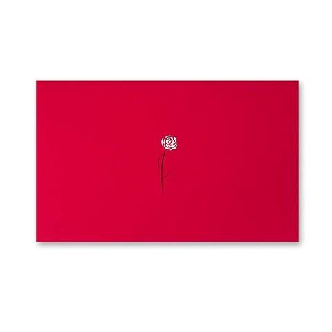 Grußkarte Rose Pure rot Mini