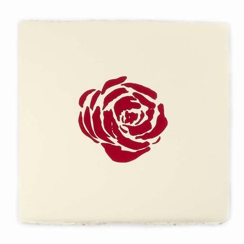 Grußkarte Rose Bütten quadratisch