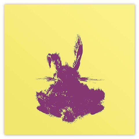 Grußkarte Hase 21 x 21