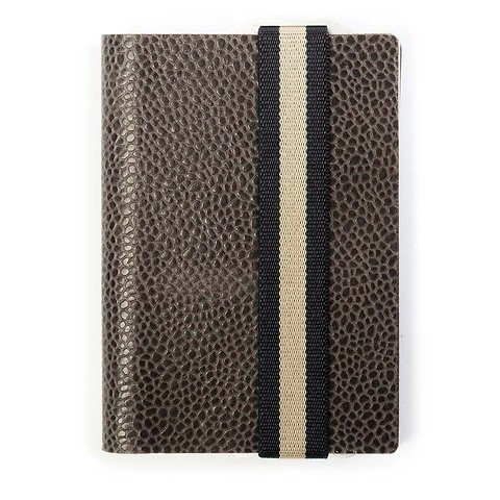 Q7 Wallet Leder Classy grau; Band blau