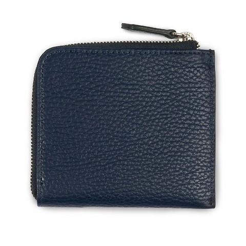 Purse Adri Zip flach 10,5x9,5  cm dunkelblau