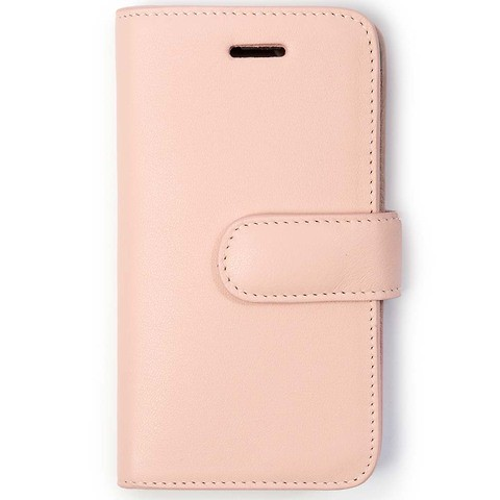 iPhone X/XS Case Leder Adri Plain rosé