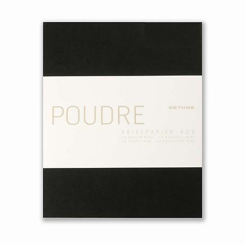 Briefpapier-Box Poudre Mini 20Briefbogen Mini 13,4x16,8 cm