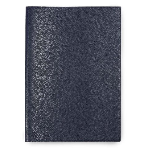 Buchhülle für DIN A4 Bücher Leder Lux dunkelblau