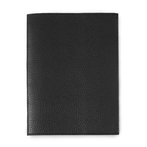 Buchhülle für DIN A5 Bücher Leder Lux schwarz