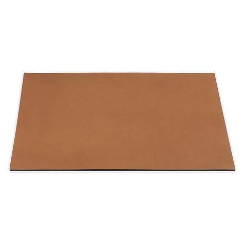 Schreibtischauflage Leder 60x40 cm sand