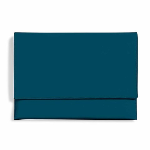 Treuleben Laptop Cache 12'-13' Leder petrol green