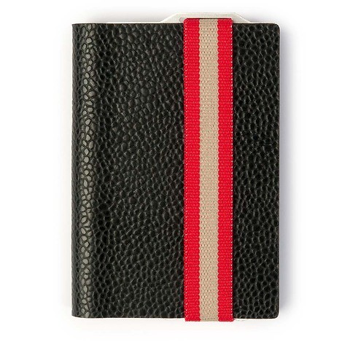 Q7 Wallet Leder Classy schwarz; Band rot