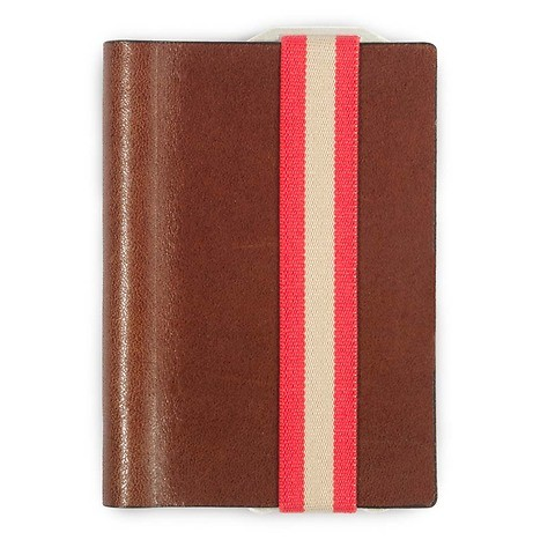 Q7 Wallet Leder Smooth cognac; Band rot