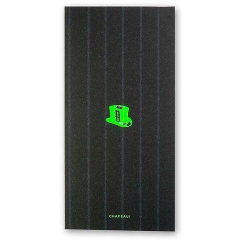 Grußkarte Chapeau auf Nadelstreifen DIN lang