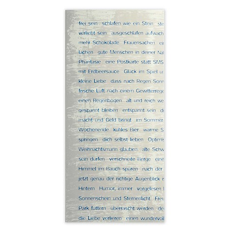 Grußkarte Wishes blau 50x61 cm